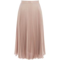 Warehouse Warehouse Foil Pleated Skirt Size 14 (685 SEK) ❤ liked on Polyvore featuring skirts, bottoms, mink, brown skirt, party skirts, knee length pleated skirt, brown pleated skirt and pleated skirt