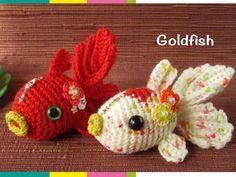 Goldfish Kawaii Crochet, Cute Crochet, Crochet Yarn, Crochet Fish Patterns, Crochet Patterns Amigurumi, Stuffed Animal Patterns, Crochet Gifts, Crochet Animals, Loom Knitting