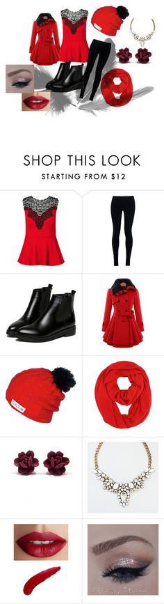 christmas by kajuska-bublinka on Polyvore featuring City Chic, NIKE, WithChic and TheBalm