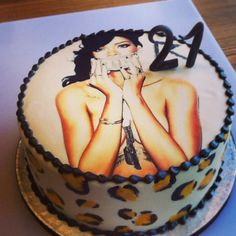 Rihanna fan birthday cake by Pavlov's Lab.