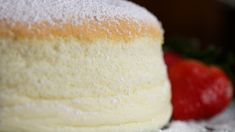This Jiggly Fluffy Japanese Cheesecake Is What Dreams Are Made Of. I don't know what this is but it looks fuckin delicious (Baking Cheesecake Recipe) Japanese Jiggly Cheesecake Recipe, Uncle Tetsu Cheesecake Recipe, Japanese Fluffy Cheesecake, Tasty, Yummy Food, Savoury Cake, Clean Eating Snacks, Cupcake Cakes, Cupcakes