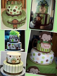 I like the green for a neutral baby shower :)