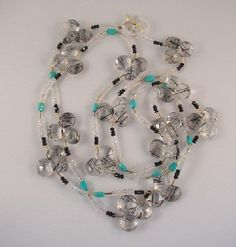 Jay Feinberg 18k and rutilated quartz necklace with turquoise