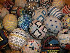 Mosaic eggs: Farrell Hamann Fine Art, Sacramento, CA