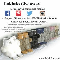 SOOOO NEED! Hope i win, gonna make the other moms at my kids bus stop jealous ; Social Media Outlets, Latest Fashion, Giveaway, Workout Tips, Jealous, Boots, Yummy Recipes, Exercises, Mosaic