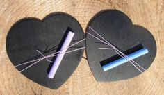 For the kids! Medium Rustic Chalkboard Heart by PNZdesigns on Etsy, $2.00
