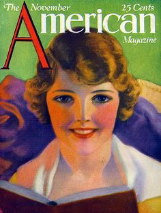 Vintage Jazz Age Flapper Magazine Cover-American Girl