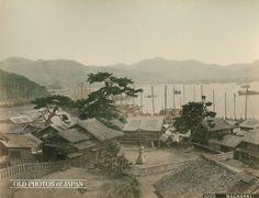 OLD PHOTOS of JAPAN: 恵美須神社と港 1890年代の長崎