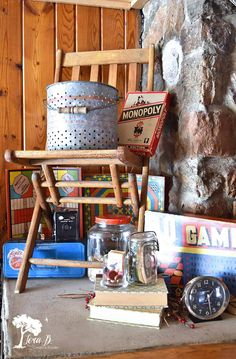You'll enjoy the adventure of Decorating a Northwoods Cabin with Vintage Camp Style with tips and ideas you can use yourself. Vintage Cabin, Vintage Decor, Camping Room, Camping Gear, Adirondack Decor, Lake Cabins, Cabin Homes, Decorating Ideas, Blankets