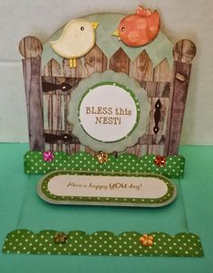 My Scrap Chick Birds and Garden Easel Card