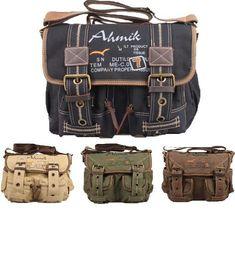 Retro Style Canvas Messenger Bag - Serbags - 1