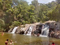 Cascadas de la quebrada Valencia, en el oeste del Parque Nacional Natural Tayrona, en el departamento del Magdalena Magdalena, Valencia, Waterfall, Natural, Outdoor, National Parks, Waterfalls, Scenery, Outdoors