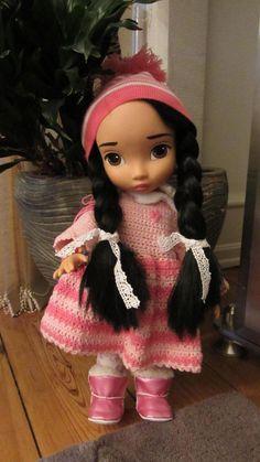 Doll's Crochet Dress / Disney Animator Doll