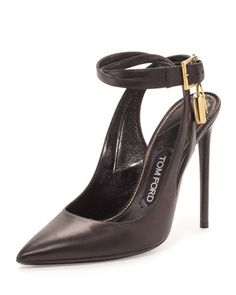 Leather+Ankle-Lock+105mm+Pump,+Black+by+TOM+FORD+at+Neiman+Marcus.