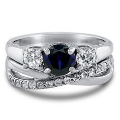 BERRICLE Sterling Silver Round Simulated Blue Sapphire Cubic Zirconia CZ 3 Stone Engagement Ring Set BERRICLE http://www.amazon.com/dp/B00THN4GUG/ref=cm_sw_r_pi_dp_Rrmivb096MGJE
