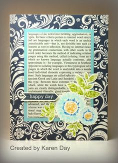 Card by Karen Day using Bloom & Grow from Verve.  #vervestamps