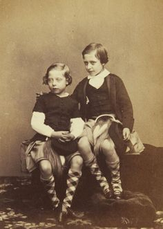 Leopold on the left with Prince Arthur