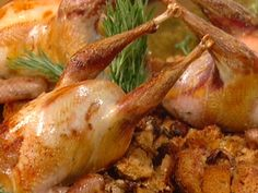 Emeril's Favorite Roast Pheasant recipe from Emeril Lagasse via Food Network --I cooked this in a bag-- Pheasant Hunting, Wild Game Recipes, Food Network Recipes, Main Dishes, Favorite Recipes, Stuffed Peppers, Quail Recipes, Okra, Bon Appetit