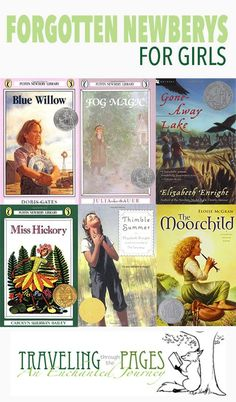Forgotten Newberys For Girls. These books are treasures! Great summer reading for upper elementary age. Newbery Award, Newbery Medal, Homeschool Books, Homeschooling, Kids Reading, Reading Lists, Reading Activities, Chapter Books, Book Girl