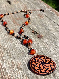 Greek VaseInspired Carnelian and Black Copper by KimberlysCraftini, $50.00