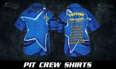 Custom Pit Crew Shirts. Normally for #racingclothing but this time used as #promotionaluniforms