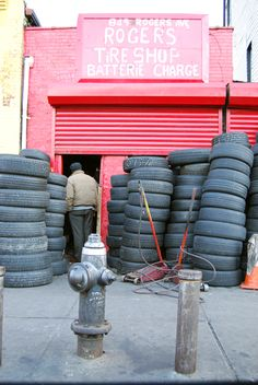 "Search for a ""Tire Shop"" or ""Landfills"" to Find Free Tractor Tires to Workout"