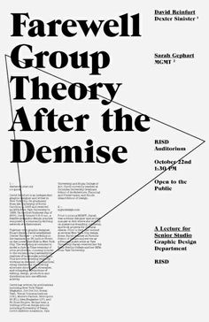 Farewell Group Theory After the Demise