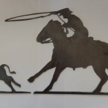Start your ranch sign with this set.  http://www.etsy.com/shop/IRONHORSEAZ