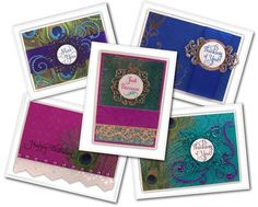 Inspiration Cards for Proud as a Peacock designed by Sheri Holt