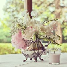 See if we can borrow Grandpa Joe's?  centerpieces: English tea party sugar bowl by Juniper Designs