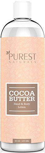 Purest Naturals Cocoa Butter Lotion Cream For Face Hand  Body  Best Hydrating Formula For Eczema Dermatitis Stretch Marks Dark Spots Pregnancy Therapy  Baby Moisturizer  With Shea Butter ** Click image to review more details.