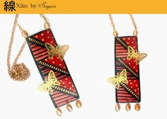 Xian - collection of hand painted Leather jewelry