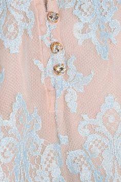 Rosamosario - Sweet Sumatra Lace And Silk-chiffon Pajama Shorts - Sky blue - x large