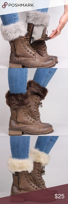 LIQUIDATING!! CUTE Faux Fur Boot Toppers These are not full socks they are illusion style.  Gives you the added effect of super fancy boots without the high price. Acrylic blend, soft and super adorable for the upcoming fall and winter season Accessories