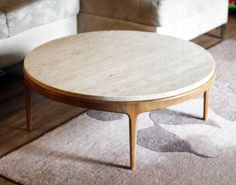 Round Glass Coffee Table Walnut Wood Article Clarus Modern