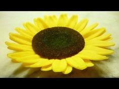 Pasta di zucchero decorazioni: girasole by ItalianCakes - YouTube