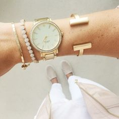 Gold accessories are a must