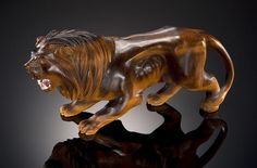 Tiger's Eye Carving of a Lion by Paul Dreher