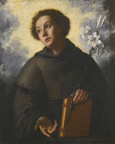 Florentine School, 17th Century SAINT ANTHONY OF PADUA oil on canvas 108 by 90 cm.; 42 1/2  by 35 1/2  in.