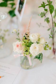 simple floral arrangement Floral Wedding Decorations, Floral Centerpieces, Floral Arrangements, Wedding Flowers, Classic Elegance, Wedding Table, Summer Wedding, Reception, Bathroom