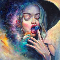 """1,178 Likes, 35 Comments - Art of Tanya Shatseva (@tanyashatseva) on Instagram: """"⚫ Black Hole in the Milky Way ⚫ A moment inside me is slowing down and lasts for eternity.…"""""""