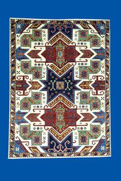 Handmade Geometric Design Fine Wool Rug