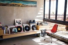 Vintage records in every room.