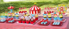 Dessert Table Circus Themed 1st Birthday
