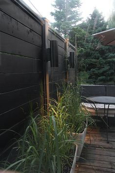 Need Ideas for a Wood Fence? Check out our Beautiful Gallery of Wood Fence Ideas and Designs including Privacy, Security, Decorative Fences & More. Fence Lighting, Outdoor Lighting, Modern Lighting, Lighting Ideas, Backyard Fences, Backyard Landscaping, Outdoor Fencing, Outdoor Rooms, Outdoor Gardens