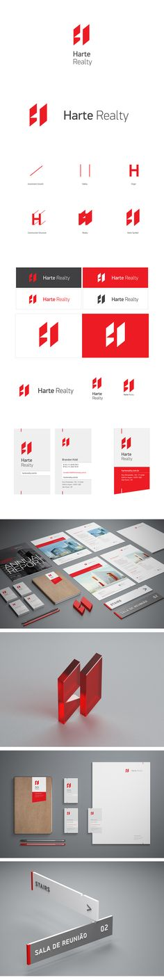 Visual Identity for Harte Realty. Designed by Flavio Carvalho. www.flaviomcarvalho.com
