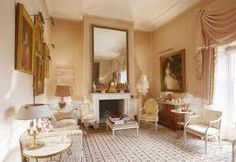 The Drawing Room at The Grove, home of the late David Hicks where his wife Lady Pamela still resides. Image via Cote De Texas. David Hicks, Interior Styling, Interior Design, Classic Living Room, India, Living Room Inspiration, Decoration, Home Furnishings, Beige