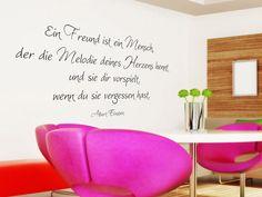 Wandtattoo Ein Freund ist ein Mensch Zitat Wandtattoo Albert Einstein Wandzitat Wandtattoos Zitate