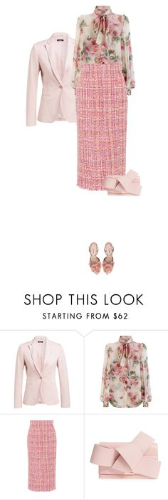 """Rose III SS 2018"" by michaelangelamontagna ❤ liked on Polyvore featuring Dolce&Gabbana, Alexander McQueen, Ted Baker, WorkWear, women, fashionset and spring2018"