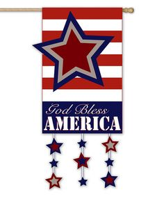 Love this 'God Bless America' Stars Outdoor Flag on #zulily! #zulilyfinds